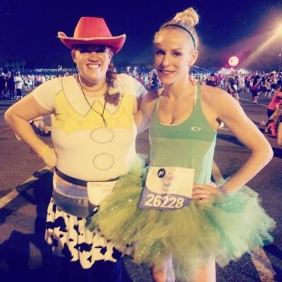 Taryn and Fitz at the runDisney Enchanted 10K