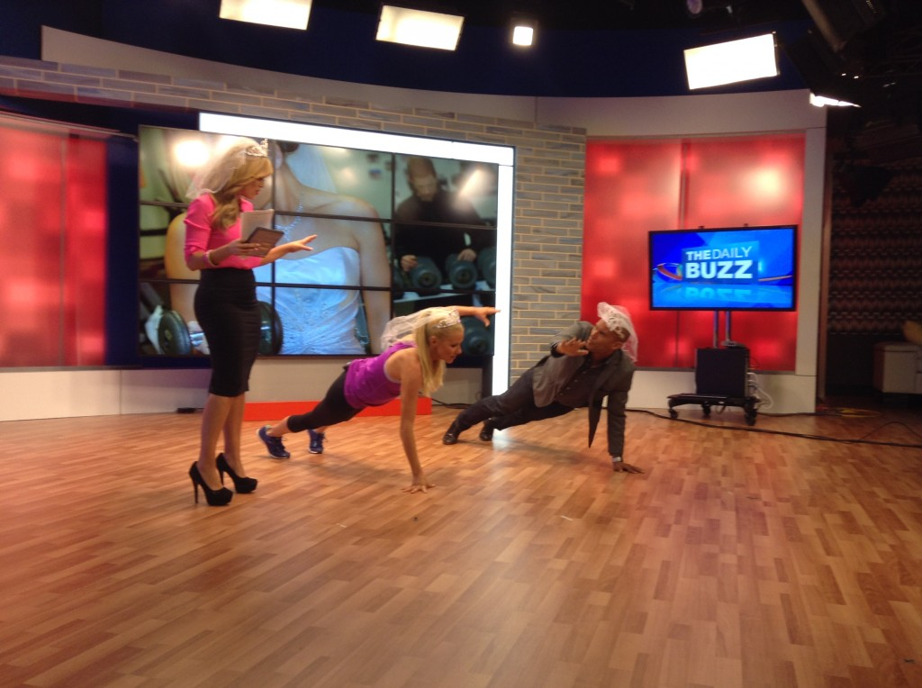 Pre-wedding workout and weight loss with Fitz on The Daily Buzz