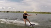 Fitz wakeboarding at Orlando Watersports Complex