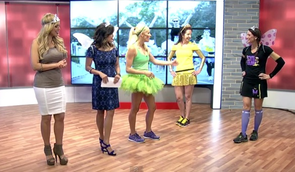 Fitz on The Daily Buzz Fairytale Fitness Fashions