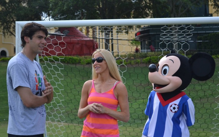 Working with soccer star Kaka and Mickey Mouse!